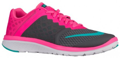 Nike Fs Lite Run 3 Dunkel Grau/Rosa Blast/Weiß/Deutlich Jade Damen Schuhcenter