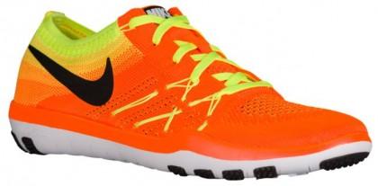 Nike Free Tr Focus Flyknit Damen Schuhschaft Gesamt Orange/Schwarz/Volt