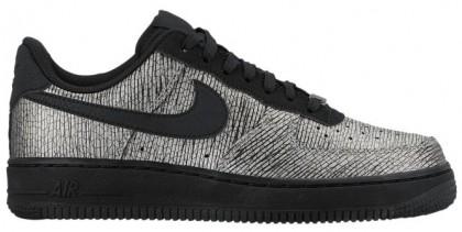 Nike Air Force 1 '07 Mid Premium Metallic Silber/Schwarz Damen Sneakers