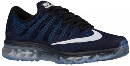 Nike Air Max 2016 Herren Turnschuhe Dunkel Obsidian/Schwarz/Dunkel Royal Blau/Weiß