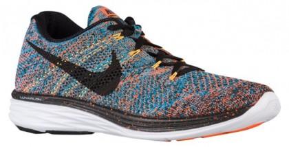 Herren Nike Flyknit Lunar 3 Gesamt Orange/Blau Lagoon/Laser Orange/Schwarz Schuhschaft