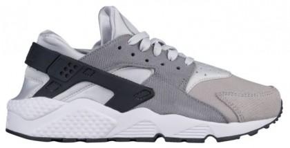 Nike Air Huarache Suede Premium Rein Platin/Deutlich Grau/Anthrazit/Matte Silber Damen Tennisschuhe