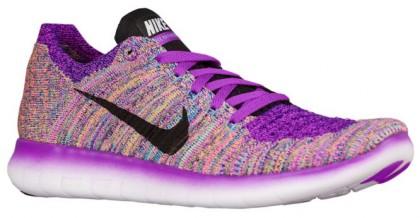 Nike Free Rn Flyknit Hyper Violett/Gamma Blau/Eintracht/Schwarz Damen Laufschuhe