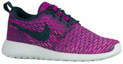 Nike Roshe One Flyknit Damen Laufschuhe Dunkel Atomar Knickente/Farbig Perle