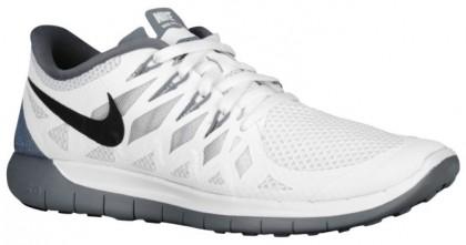 Nike Free 5.0 2014 Damen Laufschuhe Weiß/Schwarz/Rein Platin/Deutlich Grau