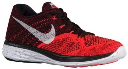 Herren Nike Flyknit Lunar 3 Schwarz/Weiß/Hell Crimson/University Rot Sneakers