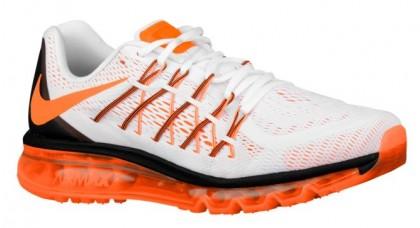 Nike Air Max 2015 Herren Sportschuhe Weiß/Schwarz/Gesamt Orange