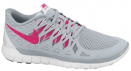 Nike Free 5.0 2014 Cool Grau/Farbig Rosa/Weiß Damen Running Schuhe