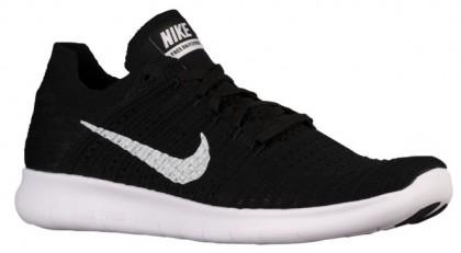 Nike Free Rn Flyknit Schwarz/Weiß Herren Sports