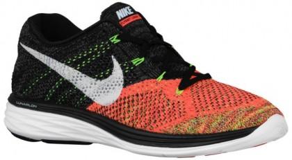 Nike Flyknit Lunar 3 Herrenschuh Schwarz/Weiß/Hot Lava/Volt