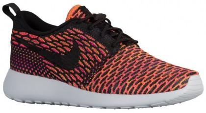 Nike Roshe One Flyknit Damen Sneakers Anthrazit/Schwarz/Farbig Perle/Hyper Orange