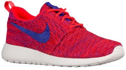 Nike Roshe One Flyknit Damen Sneakers Hell Crimson/Persisch Violett/University Rot/Weiß
