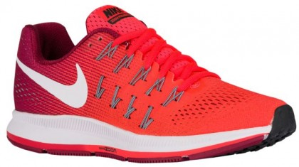 Nike Air Zoom Pegasus 33 Hypernational Damen Laufschuhe Hell Crimson/Noble Rot/Schwarz/Weiß