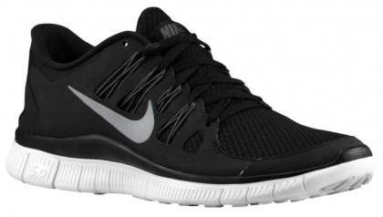 Nike Free 5.0+ Schwarz/Dunkel Grau/Weiß/Metallic Silber Damen Trainingsschuh