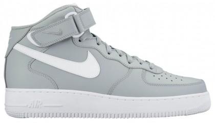 Nike Air Force 1 Mid Grau/Weiß Herren Basketball