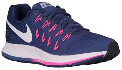 Damen Nike Air Zoom Pegasus 33 Dunkel Perle Staub/Loyal Blau/Rosa Blast/Weiß Runningschuh