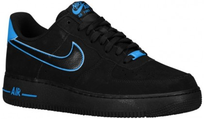 Nike Air Force 1 Low Herren Basketball Schwarz/Foto Blau