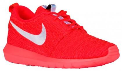 Nike Roshe One Flyknit Nm Herren Laufschuhe Hell Crimson/University Rot/Weiß