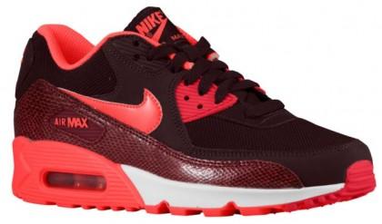 Nike Air Max 90 Dunkel Burgundy/Team Rot/Aktion Rot/Hyper Punch Damen Sportschuhe