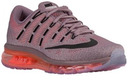 Nike Air Max 2016 Perle Smoke/Hyper Orange/Violett Asche/Schwarz Damen Laufschuh