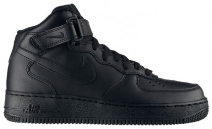 Damen Nike Air Force 1 '07 Mid Schwarz Basketballschuhe
