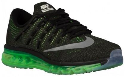 Nike Air Max 2016 Schwarz/Voltage Grün/Mittel Olive/Reflektierend Silber Herren Sneakers