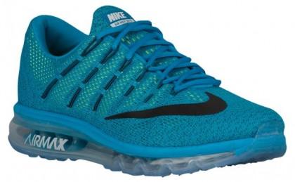 Herren Nike Air Max 2016 Blau Lagoon/Mutig Blau/Volt/Schwarz Laufschuh