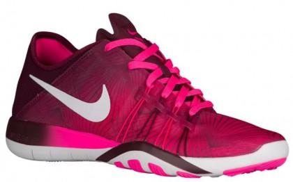 Damen Nike Free Tr 6 Rosa Blast/Weiß/Nacht Kastanienbraun Fitnessschuhe