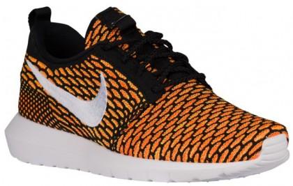 Herren Nike Roshe One Flyknit Nm Schwarz/Gesamt Orange/Volt/Weiß Turnschuhe
