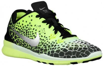 new product df09f e11c1 Nike Free 5.0 Tr Fit 5 Giraffe Print Damenschuhe Schwarz Volt Silber