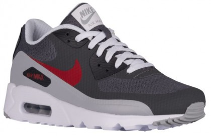 online retailer 69166 b01e4 Nike Air Max 90 Ultra Essential Herren Turnschuhe Dunkel Grau Gym Rot Wolf  Grau
