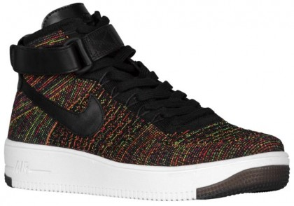 Nike Air Force 1 Ultra Flyknit Mid Herren Basketball Schwarz/Hochrot/Volt