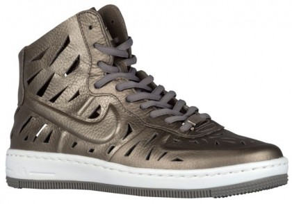 Nike Air Force 1 Ultra Force Mid Damen Sportschuheschuhe Metallic Zinn
