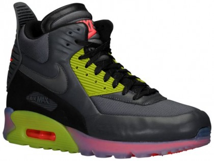 Nike Air Max 90 Sneakerboot Ice Dunkel Grau/Fierce Grün/Hyper Punch/Schwarz Herren Sportschuhe
