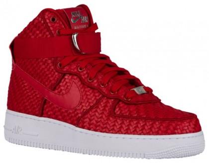 Nike Air Force 1 High Lv8 Woven Herren Streetwear Weiß/Rot