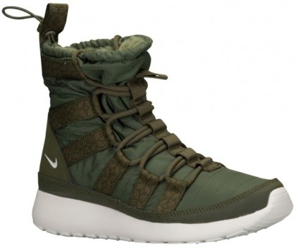 Nike Roshe One Hi Sneakerboot Rough Grün/Sail Damen Sneakerboot