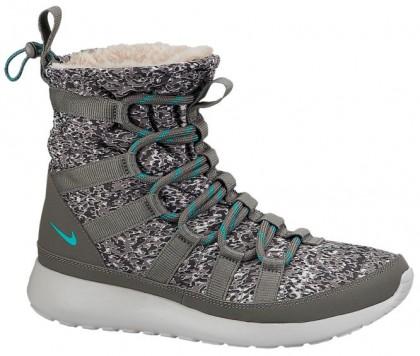Nike Roshe One Hi Sneakerboot Licht Asche/Mittel Asche/Licht Asche Grau/Stauby Kaktus Damen Sneakerboot