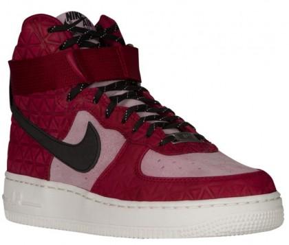 Damen Nike Air Force 1 High Premium Suede Noble Rot/Schwarz/Plum Fog Sneakers
