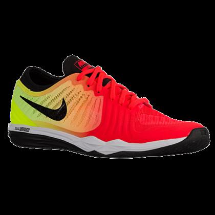 Damen Nike Dual Fusion Tr 4 Print Hell Crimson/Volt/Laser Orange/Schwarz Turnschuhe